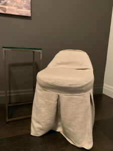 Vanity/Desk Stool and Slipcover - Restoration Hardware