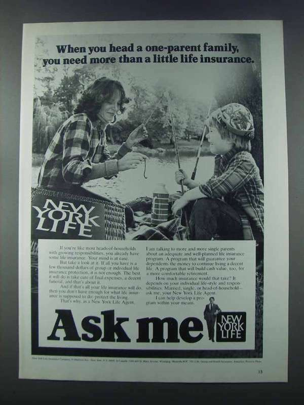 1981 New York Life Ad - Head a One-Parent Family