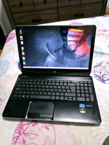 GAMING^hp dv6^I7-QUAD-3.4 TURBO^1TBSSHD^8GB^intelHD+NVIDIA 2GB