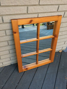 Beautiful pine mirror with shelf Windsor Region Ontario image 2
