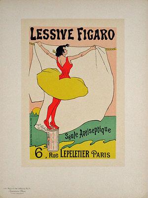 WASHING POWDER FIGARO SOAP PARIS FRANCE VINTAGE RETRO ADVERT POSTER 1585PYLV