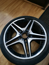 A class amg alloy and tyre