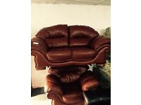 Leather 2 and 1 sofa set