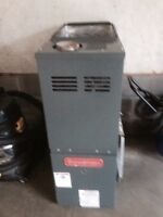 Mid efficiency natural gas furnace and wood stove for sale