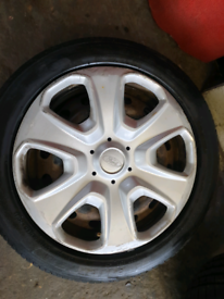 """15"""" ford fiesta steel wheel and tyre with original trim"""