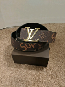 Brown LV x Supreme Belt