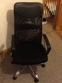 BARGAIN ****** black chair which sivels