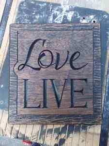 Hand Carved Sign
