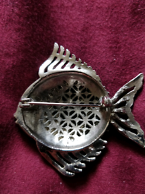 Vintage fish brooch