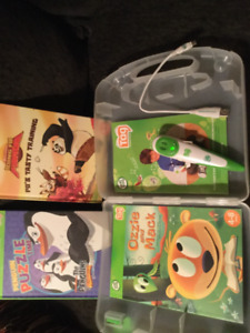 LeapFrog Tag Reader Pen with Case & 3 books