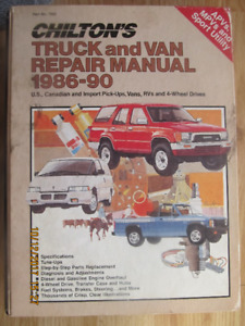 CHILTON'S TRUCK AND VAN REPAIR MANUAL 1986-90