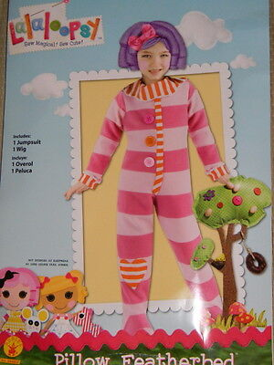 Lalaloopsy Pillow Costume (NEW LaLaLoopsy PILLOW FEATHERBED Complete Costume Dress Up 3T-4T Jumpsuit)