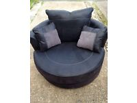 Furniture Village spinning snuggler chair black RRP £499