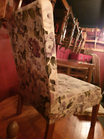 Gorgeous vintage occasional bedroom chair in floral Sanderson fabric