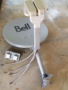 Bell satellite dish with dual SW21 and LNB