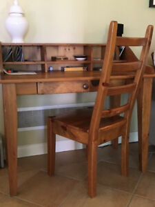 Pine Desk and chair
