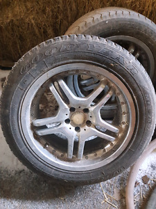 """4 Chrome 19"""" wheels with tires"""