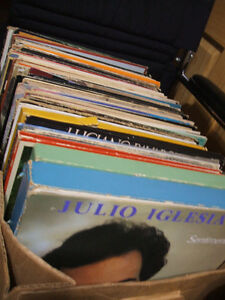LP vinyl records from different eras