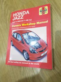 Honda jazz Haynes manual