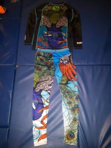 Meerkatsu BJJ/MMA rash guard /Spats combo