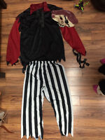 Deluxe size 10/12 pirate shirt/pants and mask- $15