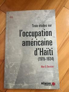 Etudes sur l'Occupation américaine d'Haïti 1915-1934 MaxDuvivier