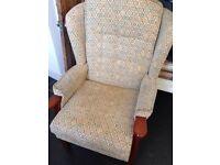 High back vintage armchair