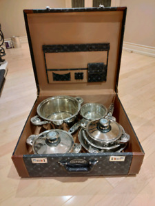 Carl Weill 8pc pots & pans set Including Luggage