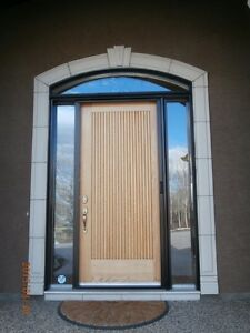Door - beautiful solid large front door - price reduced Strathcona County Edmonton Area image 1