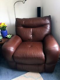 Genuine Leather Lazy Boy - great condition!