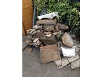 Free- Stone for wall or rockery
