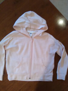 Old navy size 5 light pink hi-lo zippered hoodie