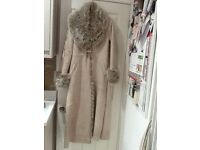Faux fur / Sheepskin long winter coat