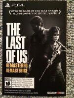The Last of us remastered ps4 digital download *NEW*