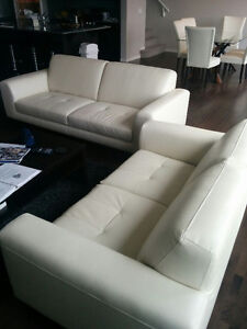 White Sofa Set - Mint condition - Hardly used - Must go!