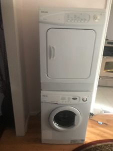 24 inch Samsung stackable Washer Dryer Set For Sale