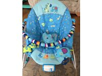C musical & vibrating baby bouncer Bright Starts (reserved)