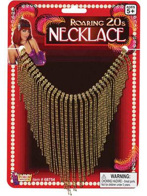Womens Moulin Rouge Roaring 1920s Hollywood Necklace Fancy Dress Fringe Flapper - Moulin Rouge Halloween Costume