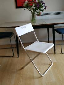 Ikea Gunde foldable fold-up white chair
