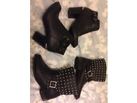 2 pairs of black ankle boots (worn once).