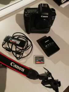 Canon 5D mark 2 full frame SLR with battery grip and accessories