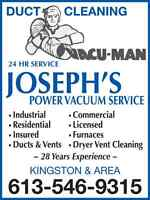 Professional Air Duct Cleaning Josephs Power Vacuum Service