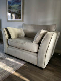 Cream/Beige Large Sofa Armchair with Cusions