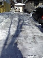 Residential snow clearing service