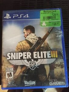PS4  Sniper Elite lll and NHL 16