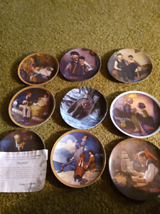 Collectors plates norman rockwell China pottery