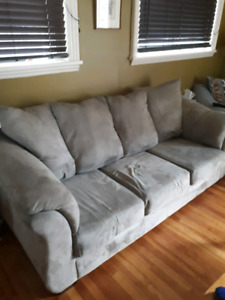 Microsuede 3-Seater Couch