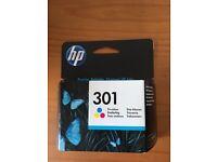 HP 301 Tri-colour original ink cartridge - new in sealed box