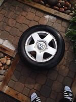 2002 jetta rims and all season tires for sale 200$