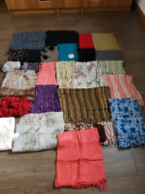 Bundle of 28 scarves